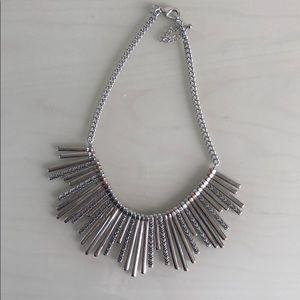 Silver tone-sunburst Necklace